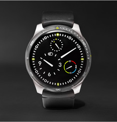 Ressence - Type 5 Mechanical 46mm Titanium and Leather Watch