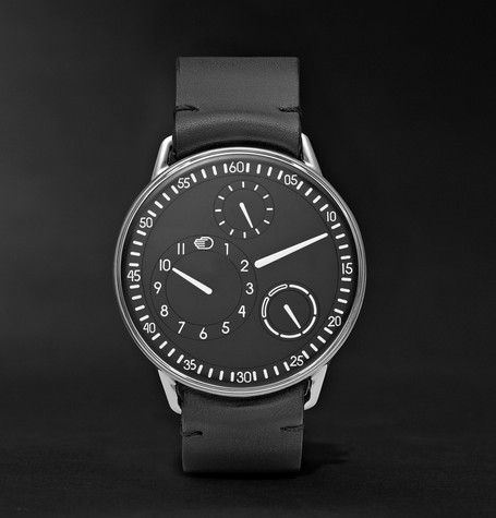 Type 1 Mechanical 42mm Titanium And Leather Watch - Black
