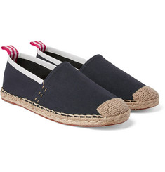 Acne Studios - Jose Grosgrain and Leather-Trimmed Canvas Espadrilles