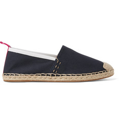 Acne Studios Jose Grosgrain and Leather-Trimmed Canvas Espadrilles