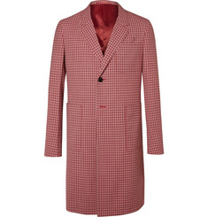 Prada - Checked Wool-Jacquard Coat