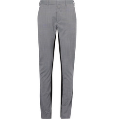 Prada Slim-Fit Checked Virgin Wool-Blend Trousers