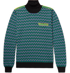 Prada Jacquard-Knit Rollneck Sweater