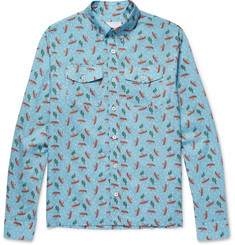 Prada Slim-Fit Button-Down Collar Printed Cotton-Poplin Shirt