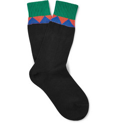 Prada - Patterned Cotton Socks