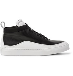 Public School Braeburn Two-Tone Leather High-Top Sneakers