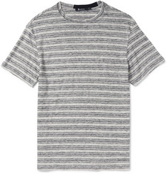 Alexander Wang Slim-Fit Striped Slub Linen-Jersey T-Shirt
