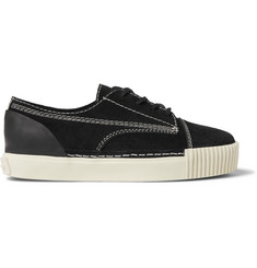 Alexander Wang Perry Rubber-Trimmed Suede Sneakers