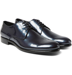 Dolce & Gabbana Metallic Patent-Leather Derby Shoes
