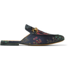 Gucci + Disney Jacquard Backless Loafers