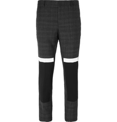 Lanvin Slim-Fit Crepe-Panelled Wool Trousers