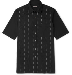 Lanvin Slim-Fit Embroidered Cotton-Voile Shirt