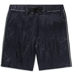 Lanvin Piped Cotton-Blend Satin Shorts