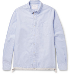 Sacai Button-Down Collar Shell-Trimmed Cotton Oxford Shirt