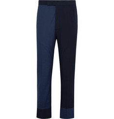 Thom Browne Slim-Fit Two-Tone Textured-Cotton and Seersucker Trousers
