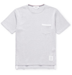Thom Browne Ribbed Cotton-Seersucker T-Shirt