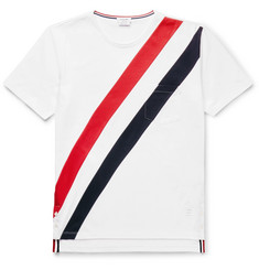 Thom Browne Slim-Fit Striped Cotton-Jersey T-Shirt