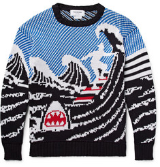 Thom Browne Jacquard-Knit Cotton Sweater