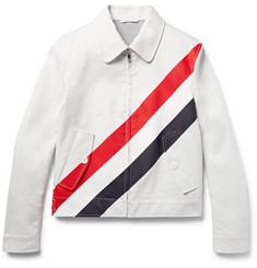 Thom Browne - Slim-Fit Striped Cotton-Twill Jacket