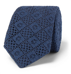 Marwood 6cm Cotton Lace and Silk-Twill Tie