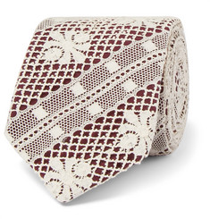 Marwood 7cm Cotton Lace and Silk-Twill Tie