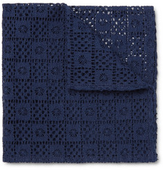 Marwood - Cotton-Lace Pocket Square