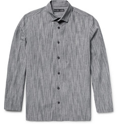 Issey Miyake Men - Textured Cotton, Linen and Ramie-Blend Shirt