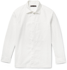 Issey Miyake Men Shadow-Striped Cotton-Seersucker Shirt