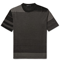 Issey Miyake Men Slim-Fit Striped Birdseye-Knit T-Shirt