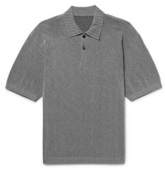 Issey Miyake Men Slim-Fit Knitted Polo Shirt