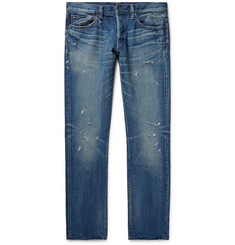 Simon Miller M001 Slim-Fit Distressed Denim Jeans