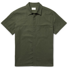 Simon Miller Slim-Fit Cotton and Linen-Blend Shirt