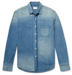 Simon Miller Slim-Fit Washed-Denim Shirt