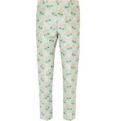 Gucci - Slim-Fit Jacquard Trousers