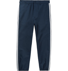 Gucci Slim-Fit Cropped Grosgrain-Trimmed Twill Trousers