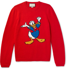 Gucci - + Disney Appliquéd Intarsia Wool Sweater