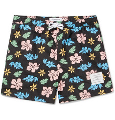 Thom Browne Mid-Length Floral-Print Swim Shorts