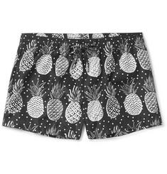 Dolce & Gabbana Mid-Length Pineapple-Print Swim Shorts