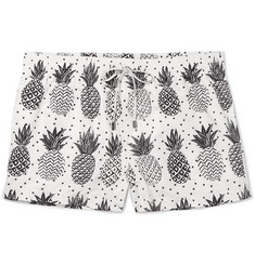 Dolce & Gabbana - Slim-Fit Mid-Length Pineapple-Print Swim Shorts
