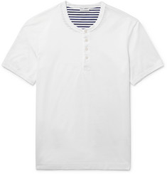 Dolce & Gabbana Slim-Fit Slub Cotton-Jersey Henley T-Shirt