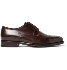 TOM FORD Wessex Polished-Leather Derby Shoes