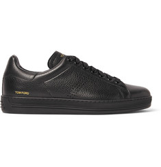 TOM FORD Warwick Perforated Grained-Leather Sneakers