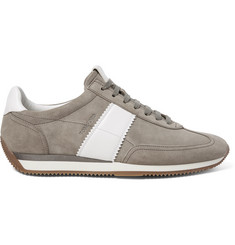 TOM FORD Orford Leather-Panelled Suede Sneakers