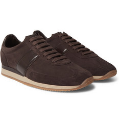 TOM FORD - Orford Leather-Panelled Suede Sneakers