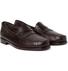 TOM FORD Crewe Leather Penny Loafers