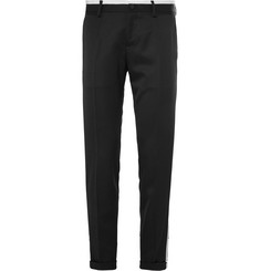 Dolce & Gabbana Slim-Fit Contrast-Trimmed Wool-Twill Trousers