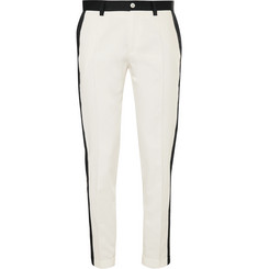 Dolce & Gabbana Contrast-Trimmed Cotton-Blend Jacquard Trousers