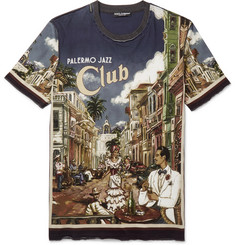Dolce & Gabbana - Slim-Fit Printed Cotton-Jersey T-Shirt
