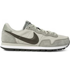 Nike Air Pegasus 83 Leather-Trimmed Suede Sneakers