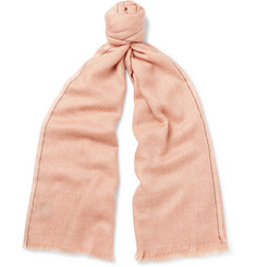 Loro Piana - Cashmere and Silk-Blend Jacquard Scarf